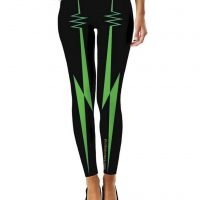 rock lightning leggings green